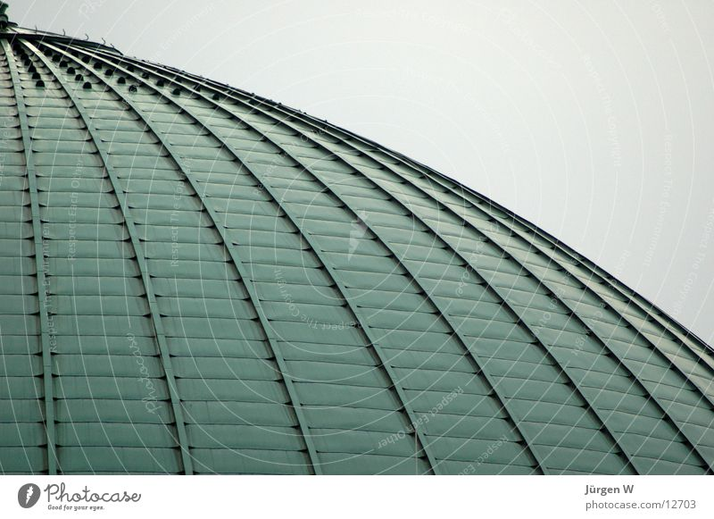 Green Architecture Round Roof Duesseldorf Copper