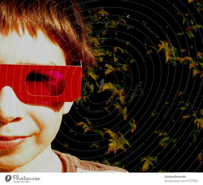 Child Red Sun Joy Face Eyes Boy (child) Funny Pink Mouth Nose Eyeglasses Sunglasses Dazzle Rose glasses