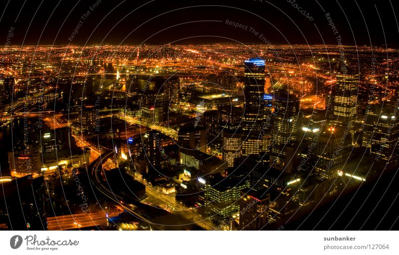 City Dark Freedom Lighting Romance Australia Night shot Melbourne