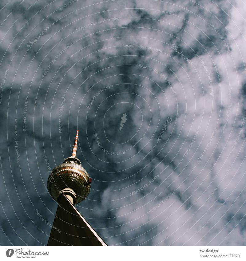 Sky Blue White Clouds Berlin Graffiti Architecture Lamp Art Germany Glass Concrete Design Modern Large