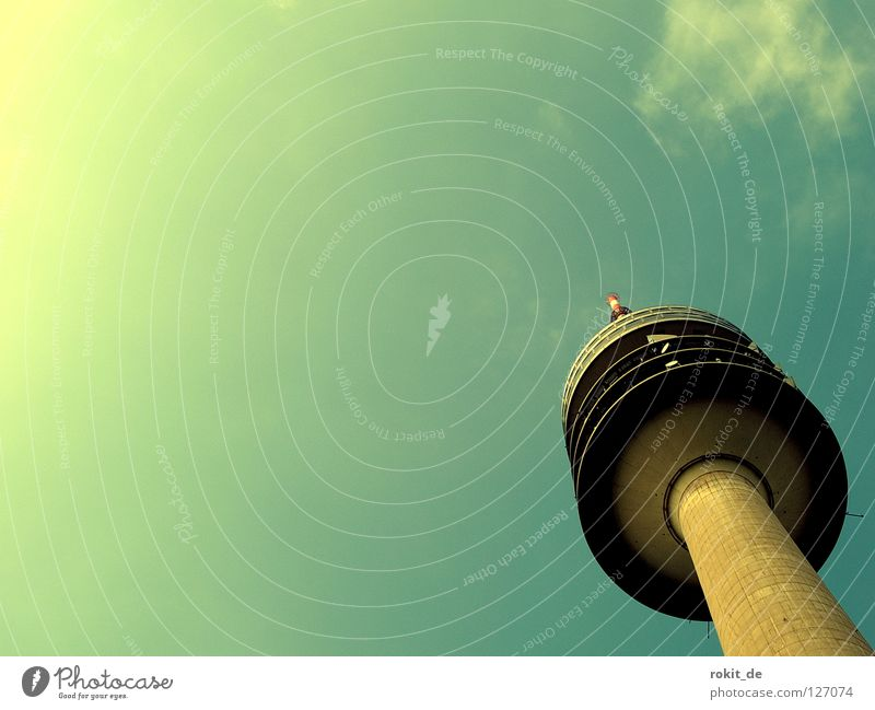 New canidate of the tower fraction Olympic Tower Elevator Round Deep Driving Rotate Far-off places Territory Antenna Restaurant Lifeless Clouds Munich