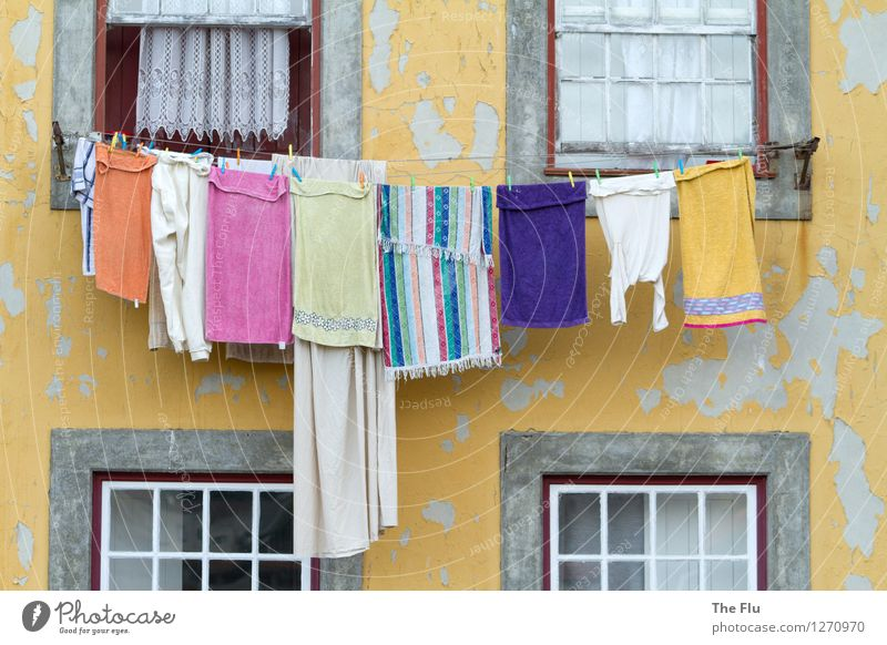 Not just clean, but pure Living or residing Flat (apartment) Housewife Porto Portugal Europe Old town House (Residential Structure) Wall (barrier)