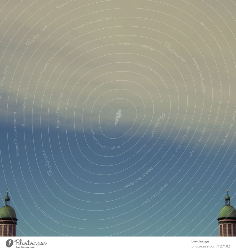 Double Lottchen Dark Progress Frankfurter Tor Frankfurter Allee Clouds Sightseeing Television Art Interesting Landmark Symbols and metaphors Warped
