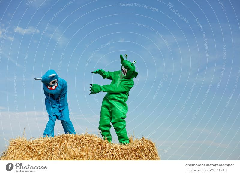 Blue Green Joy Funny Laughter Art Friendship Esthetic Carnival Work of art Carnival costume Converse Monster Comical Funster Extraterrestrial being