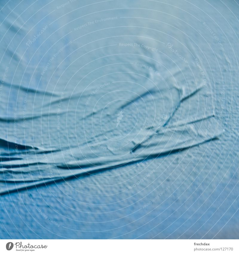 Ocean of Paper II Blue tone Waves Tissue paper Cloth Grainy Swell Cyan Incline Square Blur Art Painting and drawing (object) Tone-on-tone Culture Shadow Image