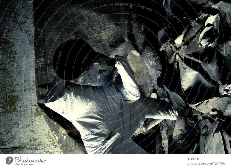 Human being Old White Loneliness Room Broken Newspaper Trash Derelict Trashy Scrap metal