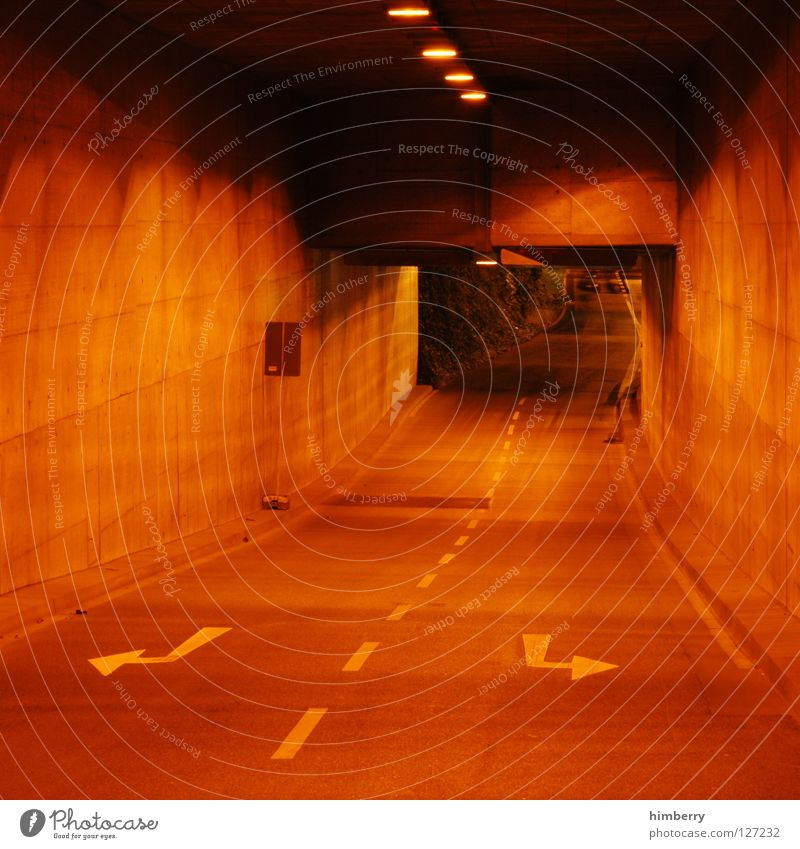 Street Signs and labeling Concrete Transport Speed Driving Lawn Tracks Motor vehicle Highway Tunnel Escape Duesseldorf Turn off