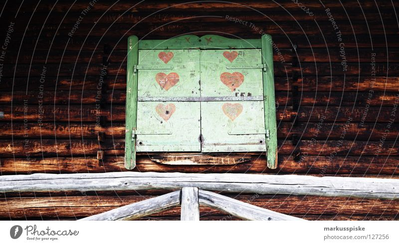 love almhütte Building House (Residential Structure) Wooden house Symbols and metaphors Garmisch-Partenkirchen Vacation & Travel Sleep Love Alps Hut Heart