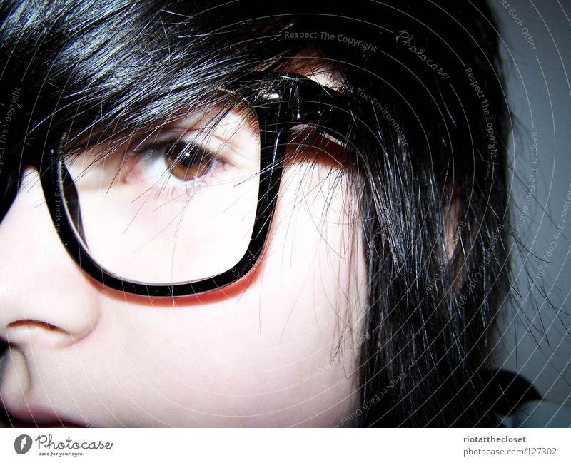 i'm a nerd. Eyeglasses Black Youth (Young adults) wayfarer Freak bleach Face Blue
