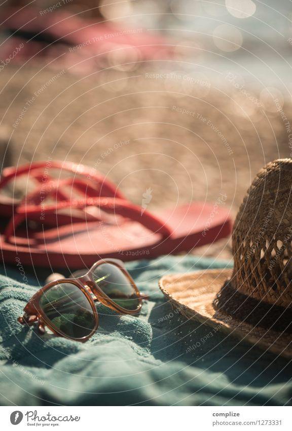 Strand-Gut! Healthy Vacation & Travel Tourism Far-off places Summer Summer vacation Sun Sunbathing Beach Ocean Island Waves Relaxation Straw hat Sunglasses