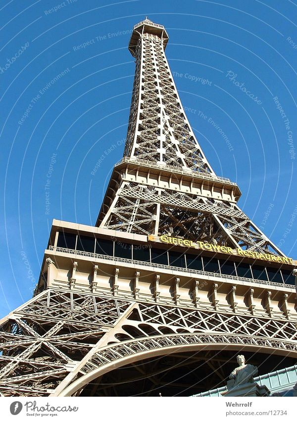 Architecture Eiffel Tower Las Vegas
