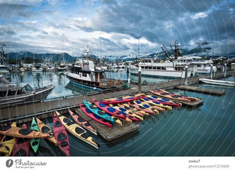 Calm Tourism Beginning Discover Navigation Closing time Sailboat Fjord Kayak Yacht harbour Alaska Passenger ship