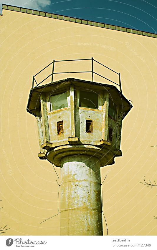 Berlin Wall (barrier) Germany Concrete Tower Monument Historic Border Landmark GDR Capital city Watch tower Soviet occupied zone