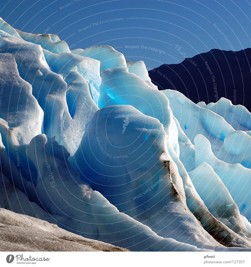 el Hielo Patagónico Winter Waves Glacier Cervasse Cold Vacation & Travel Calm Eternity Wilderness Perito Moreno Glacier Argentina Melt Freeze Growth Loneliness