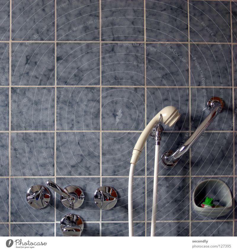 Blue White Bathroom Obscure Frog Shower (Installation) Flow Tap Life belt Shower head Stopper
