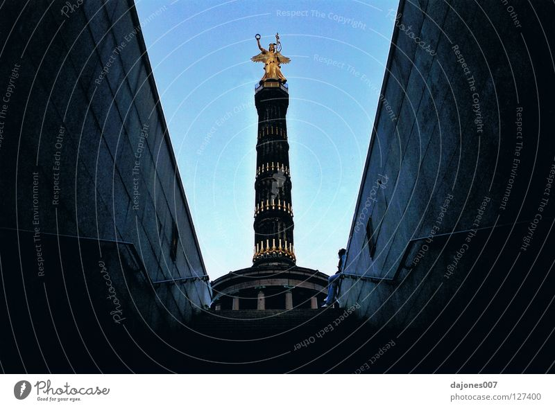 from the catacombs Tunnel Catacomb Victory column Historic Berlin Goldelse victory statue Otto von Biscmarck German History