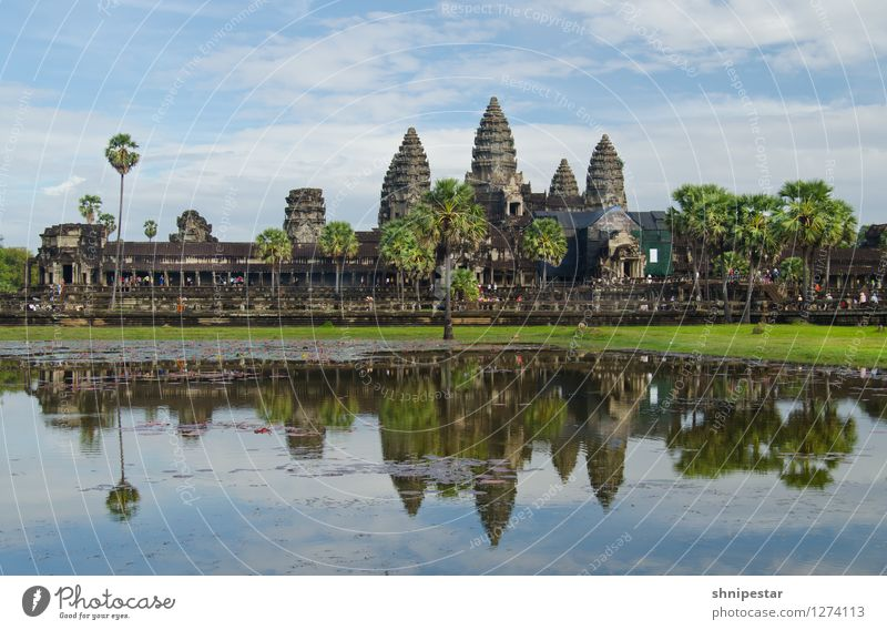 Angkor Wat Architecture Culture Khmer people Environment Phnom Penh Siem Reap Cambodia Asia Town Outskirts Ruin Manmade structures Building Temple
