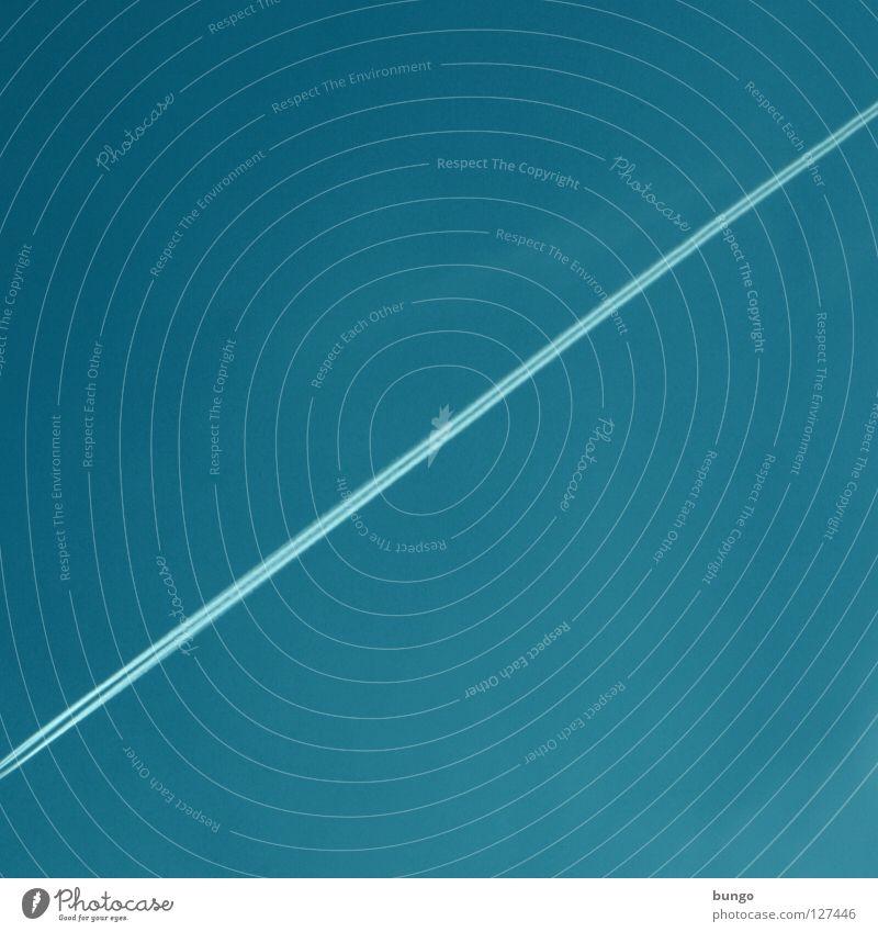 Sky Blue Clouds Air Line Airplane Aviation Stripe Diagonal Cyan Steam Vapor trail Bungo Condense