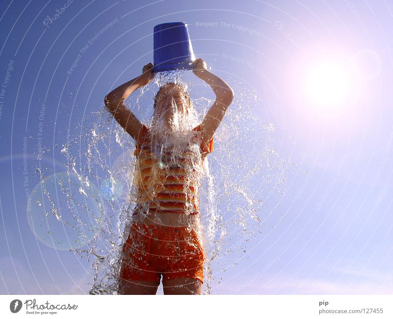 Human being Woman Sky Vacation & Travel Blue Summer Water Sun Hand Relaxation Joy Cold Warmth Funny Feminine Playing
