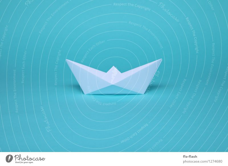 Blue Summer White Style Swimming & Bathing Art Watercraft Design Paper Wanderlust Hip & trendy Turquoise Summer vacation Artist Piece of paper Sailboat