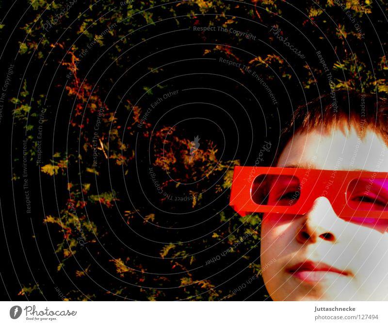 Child Red Joy Face Boy (child) Funny Pink Success Happiness Cool (slang) Eyeglasses Sunglasses Brash Joke Rose glasses