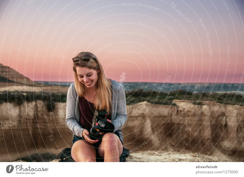Spain - Bardenas Reales Vacation & Travel Trip Adventure Far-off places Freedom Expedition Human being Feminine Young woman Youth (Young adults) 1 18 - 30 years
