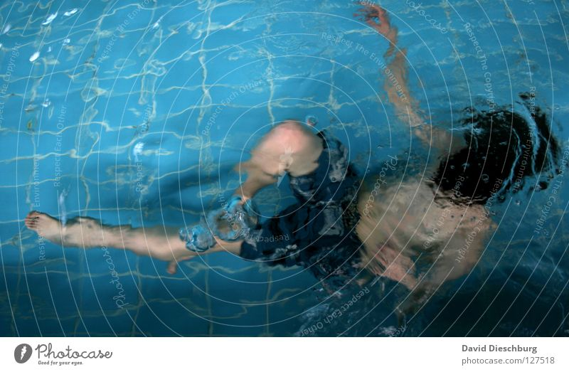 Youth (Young adults) Swimming & Bathing Individual Swimming pool Dive Surface of water Swimming trunks 1 Person One young adult man Only one man