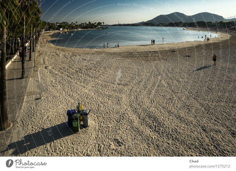 Miss the spot | Mediterranean garbage cans Wellness Harmonious Well-being Relaxation Calm Vacation & Travel Summer Summer vacation Sun Beach Ocean Human being