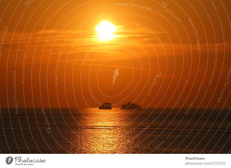 Sunset Lifestyle Luxury Style Wellness Harmonious Well-being Calm Meditation Vacation & Travel Tourism Summer vacation Ocean Island Landscape Sunrise Sunlight