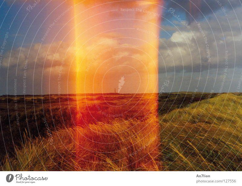 Orange Stripe Exposure Error Shaft of light Photographic technology Ameland