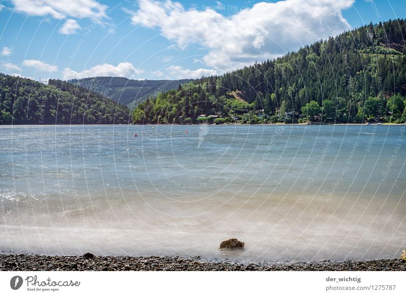 At the lake 1 Relaxation Calm Swimming & Bathing Leisure and hobbies Fishing (Angle) Vacation & Travel Tourism Trip Far-off places Freedom Camping Cycling tour