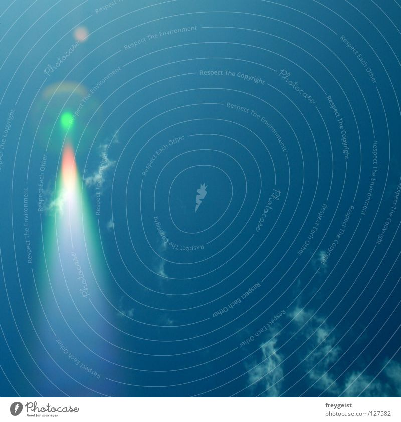 Sky Green Blue Red Clouds Beginning Aviation Patch UFO Error Aircraft