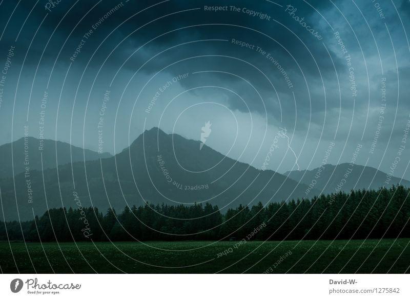 Sky Nature Landscape Clouds Far-off places Dark Mountain Environment Autumn Gray Rain Weather Fear Air Fog Wind