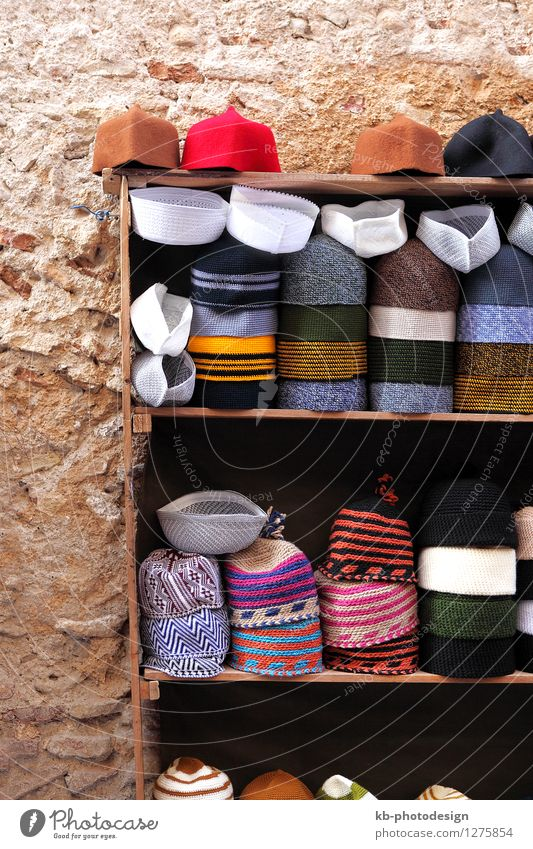 Small has shop in the Medina of Fes, Morocco Vacation & Travel Tourism Summer vacation Music Fez Hat Cap Headscarf Tradition colorful Sale high altas oriental
