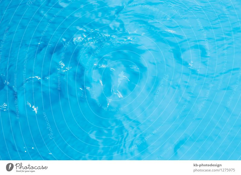 Close-up of blue water waves in a swimming pool Drinking water Life Relaxation Meditation Summer Swimming & Bathing Dive Swimming pool Water Pure splash swimmer