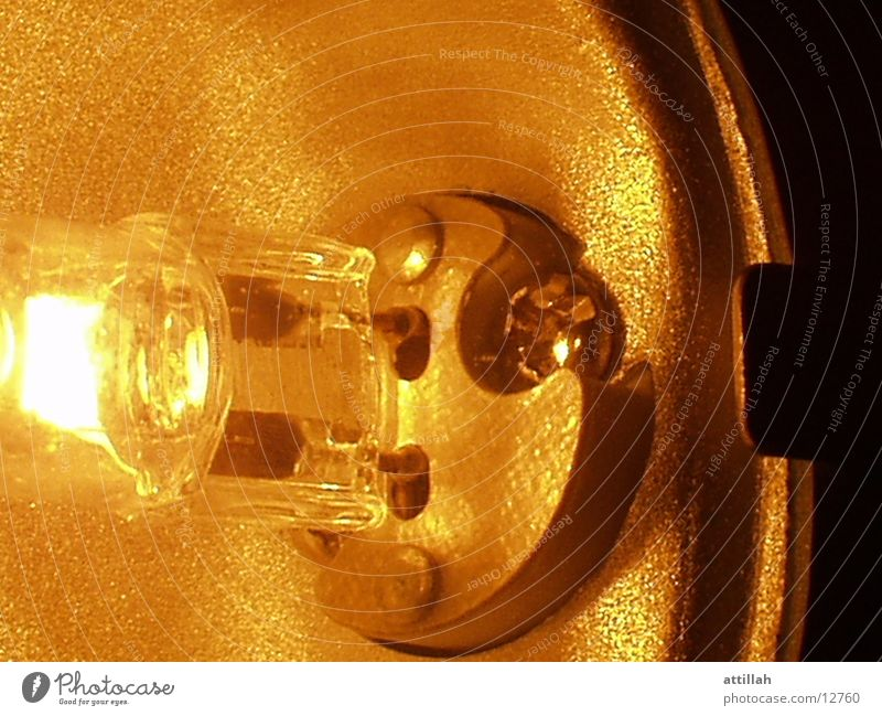 lamp Lamp Near Yellow Aluminium Bright halogen