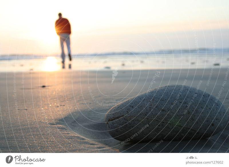Human being Sky Sun Ocean Beach Stone Sand France