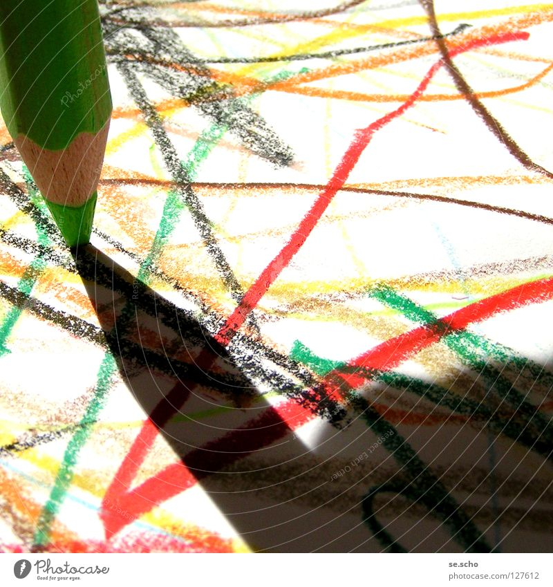 Naive Art I Painting and drawing (object) Pen Paper Multicoloured Childlike Colour scribble Shadow Simple Infancy