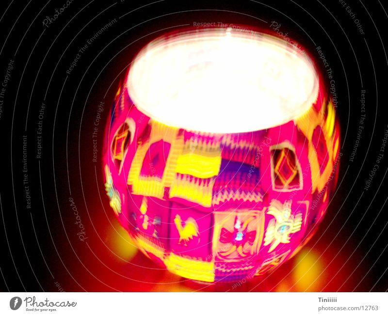 Lamp Dark Glass Blaze Candle Lantern Obscure Lampion