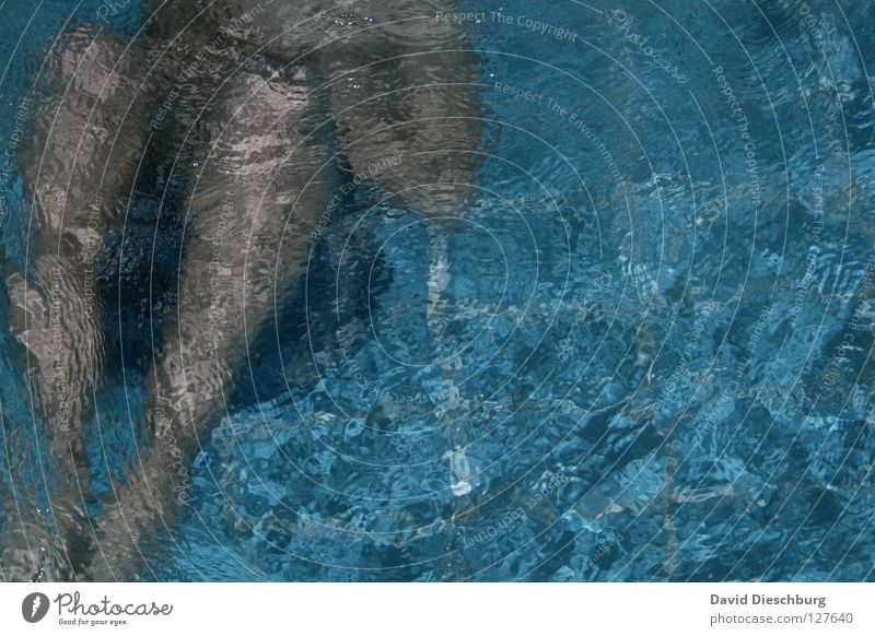 Swimming & Bathing Individual Swimming pool Dive Surface of water Anonymous Section of image Partially visible Headless Whirlpool Unrecognizable Faceless