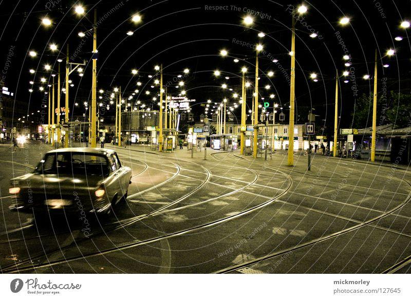 Street Dark Car Line Wait Transport Cool (slang) Places Road sign Net Asphalt Station Lantern Train station Traffic infrastructure Conduct