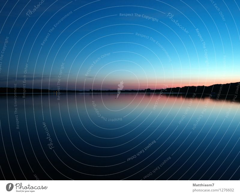 morning calm Calm Landscape Water Sky Cloudless sky Lake Wait Soft Blue Pink Black Emotions Happy Contentment Power Trust Safety (feeling of) Romance Peaceful