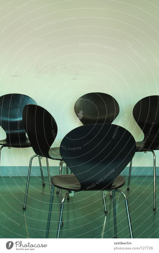 Black Wall (building) Room Empty Chair Furniture Seating Untidy Backrest Waiting room Conference room Group of chairs