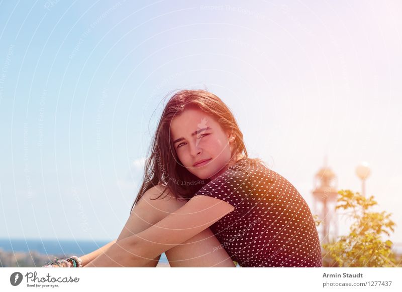 Portrait - Summer Lifestyle Style Beautiful Harmonious Well-being Vacation & Travel Summer vacation Human being Feminine Young woman Youth (Young adults) Woman