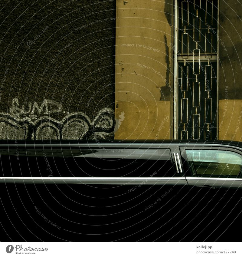 ... and on Noble Limousine Vacation & Travel Shows Hollywood Beverly Hills Slum area Ghetto Spray Tagger Black Long Environment Fine particles Occasion Event