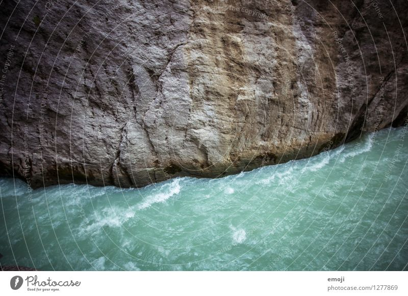 fluency Environment Nature Landscape Storm Wind Gale Canyon River Threat Turquoise Colour photo Exterior shot Deserted Day Wide angle