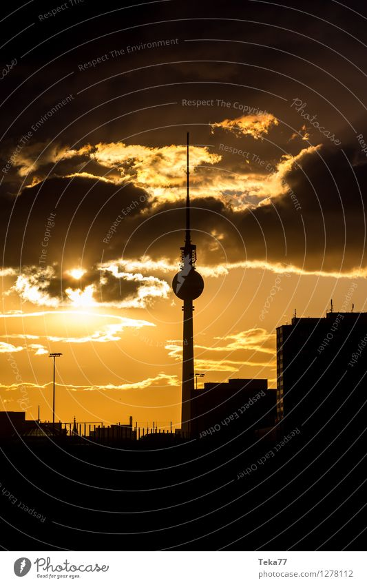 Berlin Evening 2 Vacation & Travel Summer Television Town Capital city Downtown Skyline Places Tourist Attraction Landmark Air Traffic Control Tower Adventure