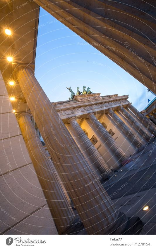 Berlin Evening IIII Vacation & Travel Sightseeing Night life Human being Brandenburg Gate Germany Facade Adventure Esthetic Colour photo Exterior shot Day