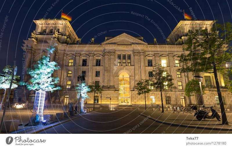 Bundestag III Vacation & Travel Human being Museum Town Capital city Dome Facade Reichstag Esthetic Might Exterior shot Deserted Twilight Night