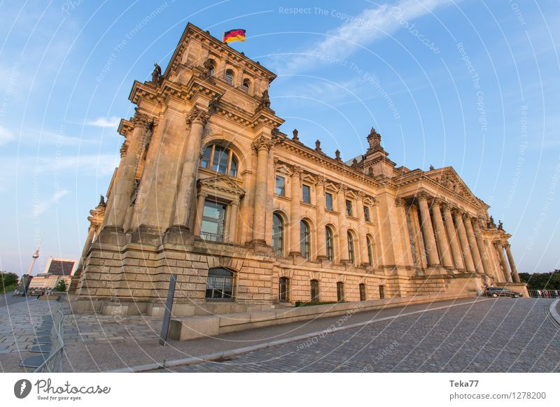 Bundestag II Vacation & Travel Human being Museum Town Capital city Dome Facade Tourist Attraction Reichstag Esthetic Might Exterior shot Deserted Day Evening